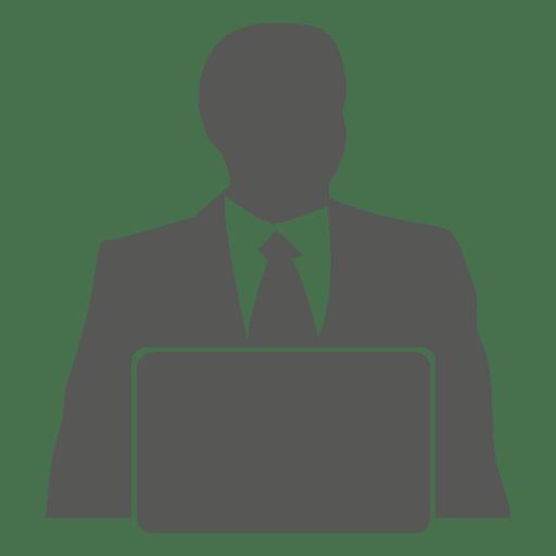 Businessman working laptop Transparent PNG