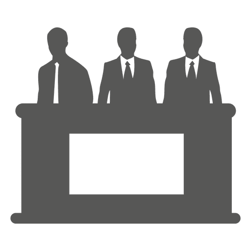 Businessmen Behind Desk Icon Transparent PNG