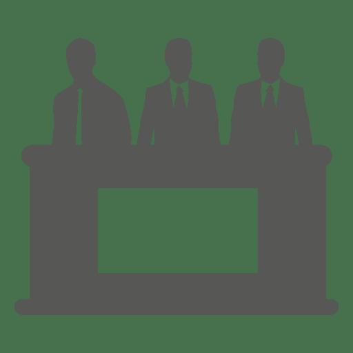 Empresários por trás do ícone de mesa Transparent PNG
