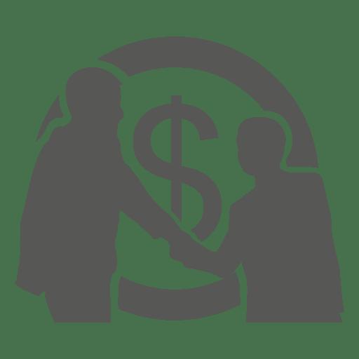 Homens negócios, reunião, com, moeda, atrás de Transparent PNG