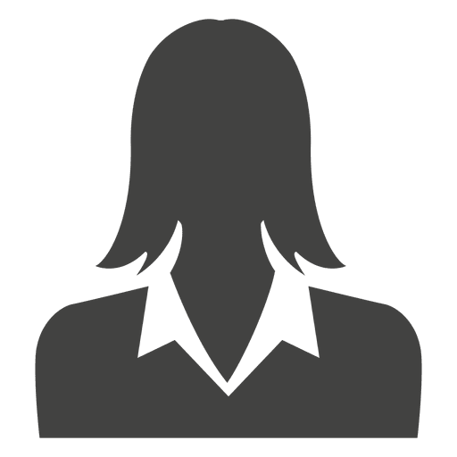 avatar silueta empresaria descargar png svg transparente