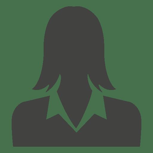 Businesswoman avatar silhouette Transparent PNG
