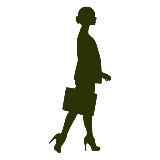 Businesswoman walking silhouette 4 Transparent PNG
