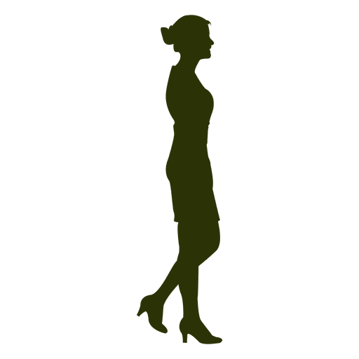 Businesswoman walking silhouette 6 Transparent PNG