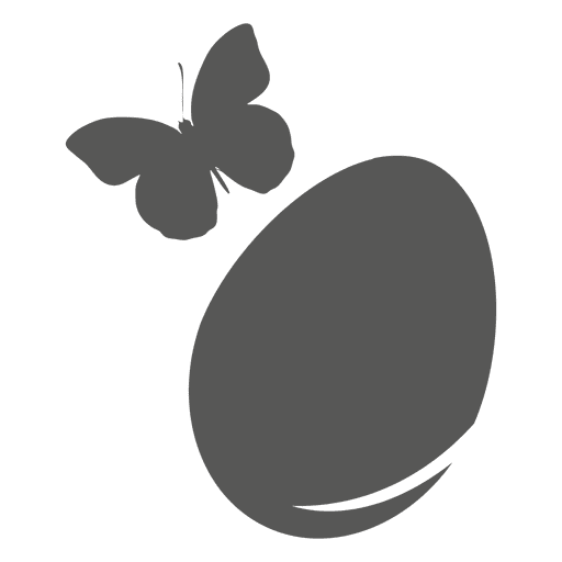 Icono de huevo de Pascua de mariposa Transparent PNG