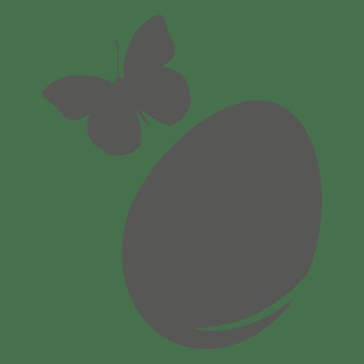 Icono de huevo de pascua de mariposa