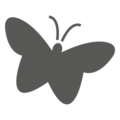Icono de mariposa plana Transparent PNG