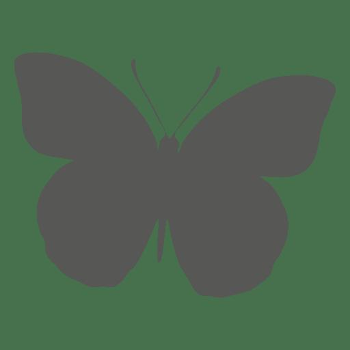 Icono de silueta de mariposa Transparent PNG