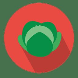 Cabbage circle icon