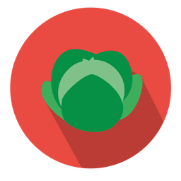 Ícone de círculo de repolho