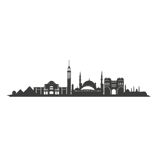 Cairo skyline silhouette Transparent PNG