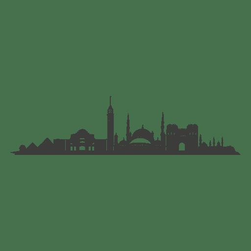 Cairo skyline silhouette