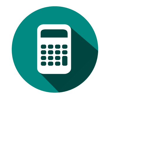 Calculator circle icon 3 Transparent PNG