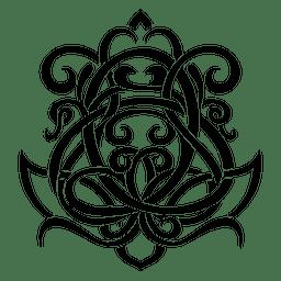 Adorno floral caligráfico 2