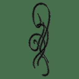Ornamento caligráfico 6
