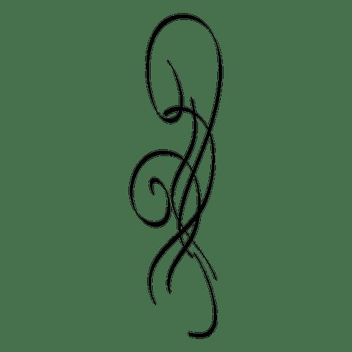 Calligraphic ornament 6 Transparent PNG