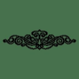 Adorno swirly caligráfico 3