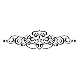 Caligrafía swirly ornamento 3
