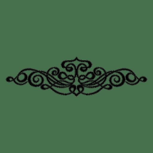 Kalligraphische swirly Verzierung 3 Transparent PNG