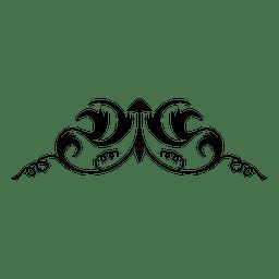 Adorno vintage caligráfico 1