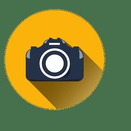 Ícone de círculo de câmera plana