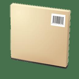 Caja de cartón con codebars
