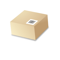 Caja de cartón con barras de código 1