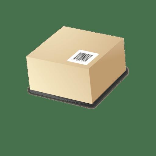Caja de cartón con barras de código 1 Transparent PNG