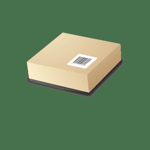 Pacote de cartão com codebars Transparent PNG
