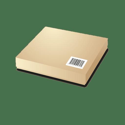 Pacote de papelão com codebars 1 Transparent PNG
