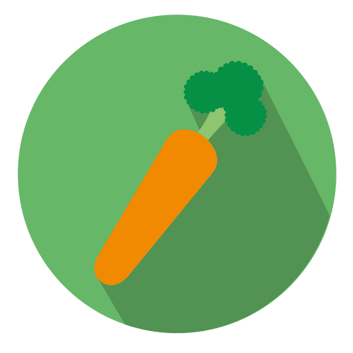 Carrot circle icon