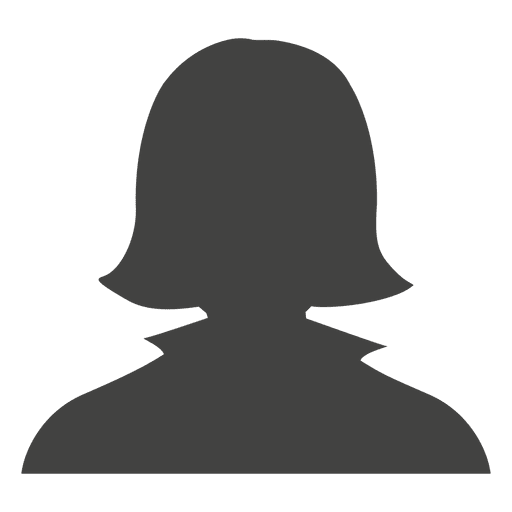 Casual female avatar silhouette Transparent PNG