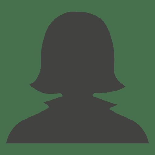 Casual female avatar silhouette