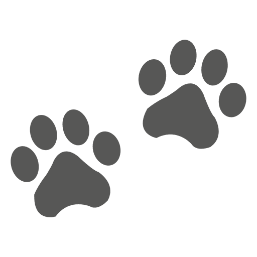Cat footprint icon Transparent PNG