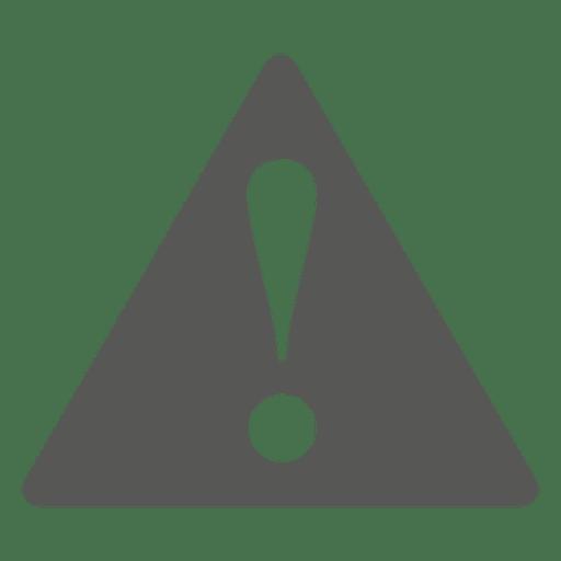 Vorsicht flach Dreieck Zeichen Transparent PNG
