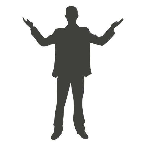 Celebrating man silhouette Transparent PNG