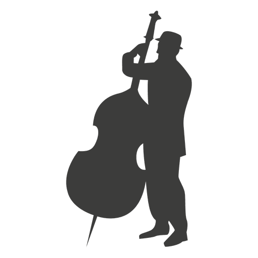 Cello musician silhouette - Transparent PNG & SVG vector