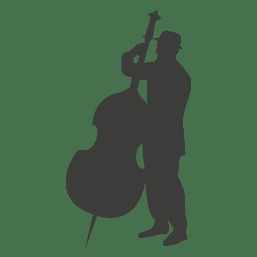 Silhueta de músico violoncelo Transparent PNG