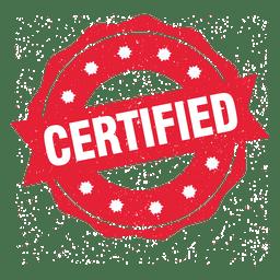 Selo redondo certificado