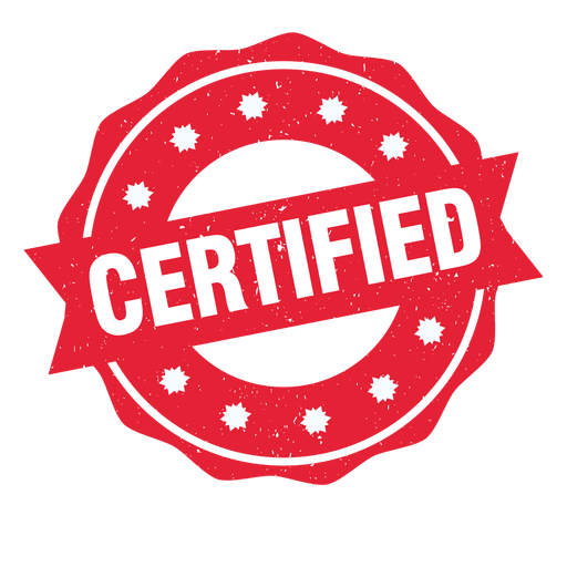 Sello Redondo Certificado Descargar Png Svg Transparente