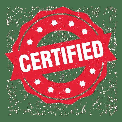Selo redondo certificado Transparent PNG
