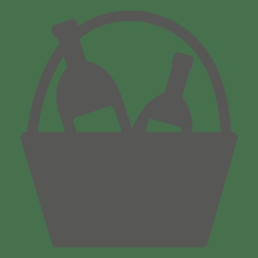 Icono de botellas de champán busket Transparent PNG