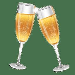 vidros de Champagne