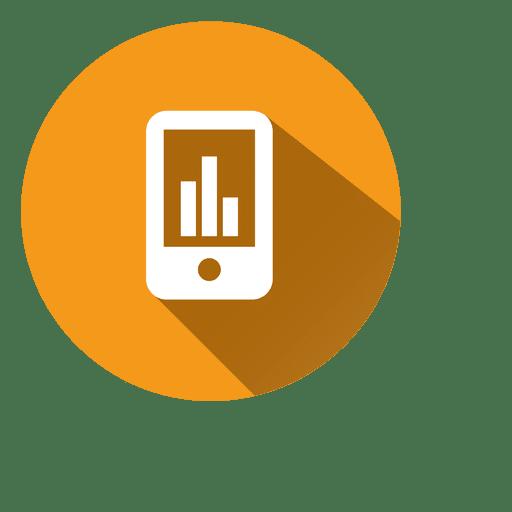 Gráfico en el icono de teléfono inteligente Transparent PNG