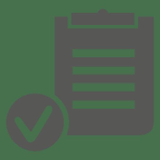 Icono de tablero de lista de verificación