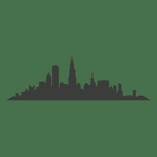 Silueta del horizonte de chicago Transparent PNG