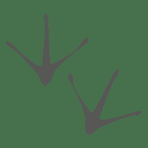 Ícone de pegada de frango Transparent PNG