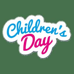 Logotipo del día del niño