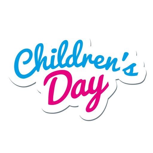 Logotipo del día del niño Transparent PNG