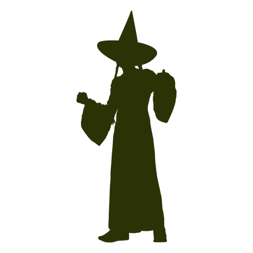 Children witch character silhouetter